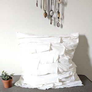 DKNY 100% Cotton Ruffle Euro Sham